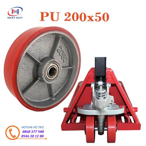 Bánh xe nâng tay PU 200x50mm