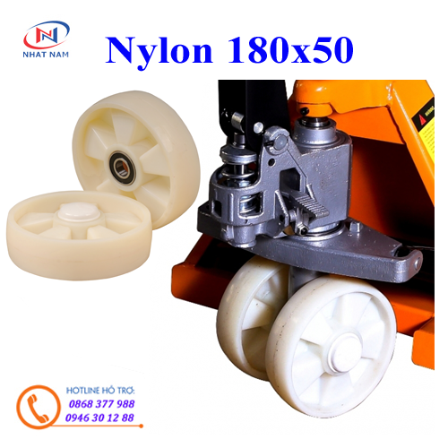 Bánh xe Nylon 180x50mm