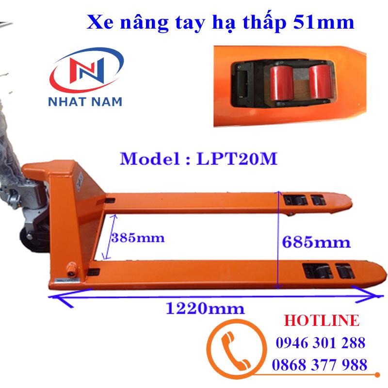 Xe nâng tay siêu thấp 51mm LPT20M